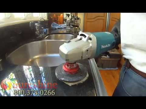How To Polish Granite Counters Granite Polishing Youtube
