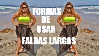 Formas de usar faldas largas (maxi-skirt) o Ideas para vestir en la playa Thumbnail