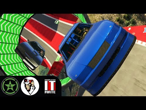 Let's Play  GTA V  Buckley Races with James Buckley and Lazarbeam