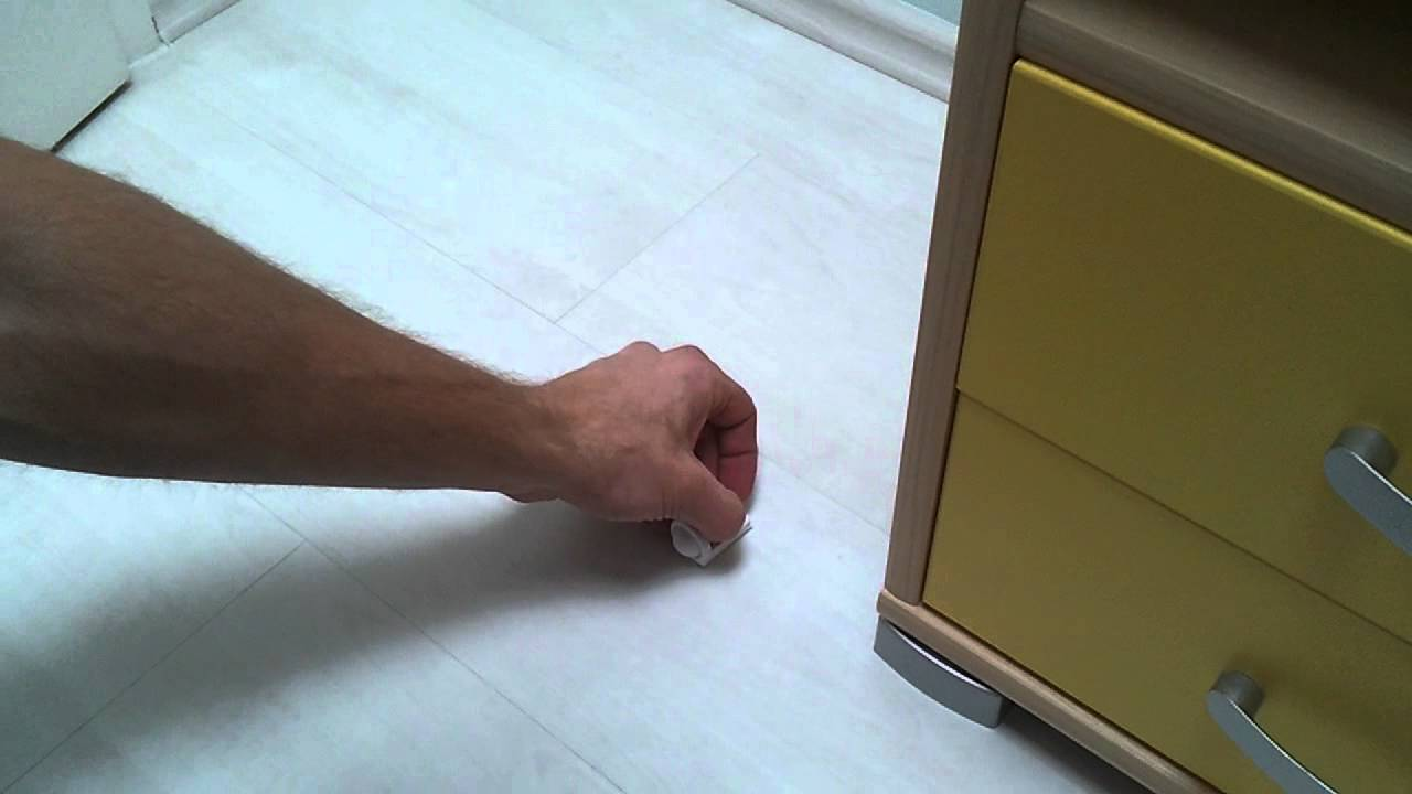 Self Adhesive Door Stop Demonstration Of Usage And