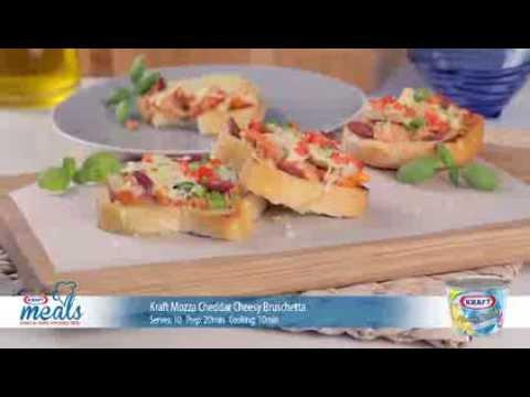 Kraft Mozza Cheddar Cheesy Bruschetta thumbnail