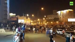 В центре Минска начали применять водомёты для разгона протестующих