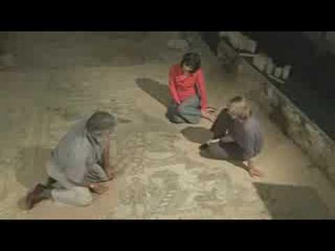 Cockheaded Man, Roman mosaic - Mosaics at Brading Villa (5/6)
