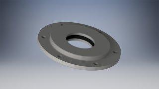 Моделирование крышки и кольцо сальниковое в Inventor - Видео уроки по Inventor