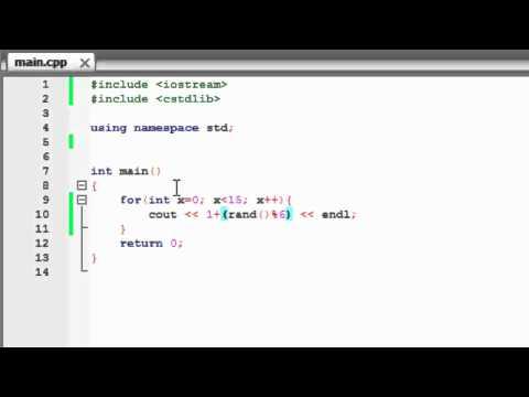 C++ Tutorial 8 - Random Number Generator