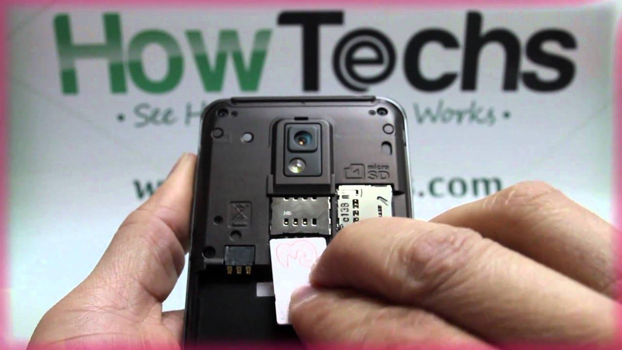 LG P990 Optimus 2X: Inserting the SIM Card - YouTube