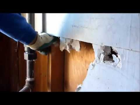 Hurricane Sandy Water Damaged Sheetrock Demolition
