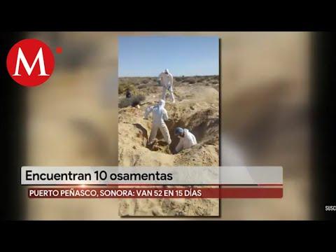 Hallan 10 Osamentas Más En Puerto Peñasco, Sonora