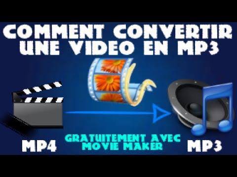 Comment convertir une vidéo en MP3 gratuitement avec (Movie Maker)
