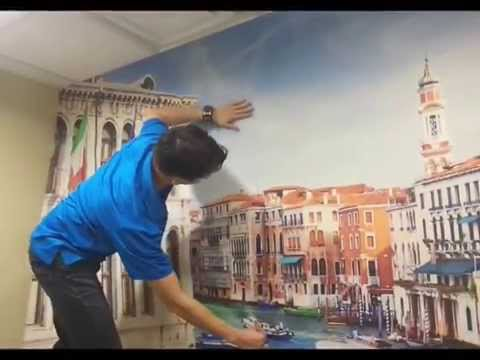 How to install a peel and stick wall mural