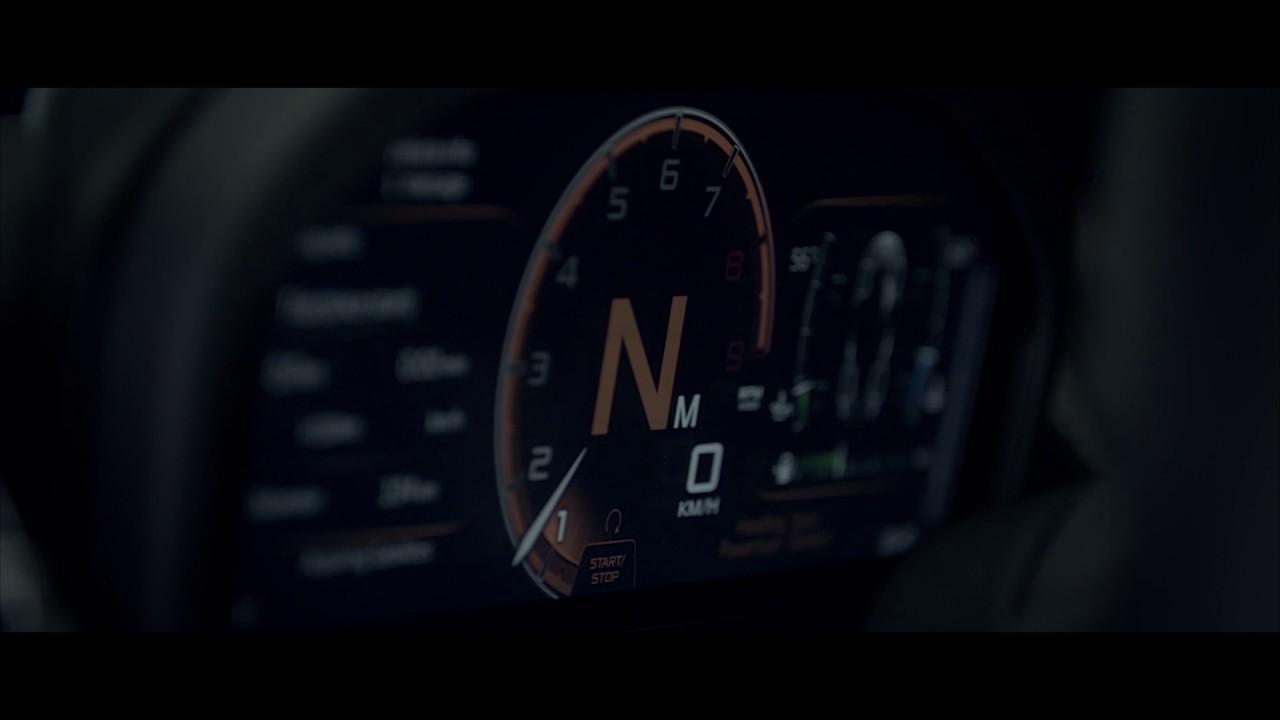 Second-generation McLaren Super Series - Folding Driver Display