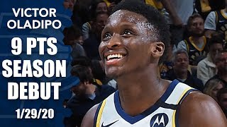 Victor Oladipo returns from injury, sinks game-tying 3 in Pacers vs. Bulls | 2019-20 NBA Highlights