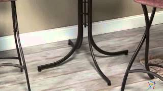 Innobella Destiny 32 In. Chocolotto Pub Folding Table With Folding Stools - Product Review Video
