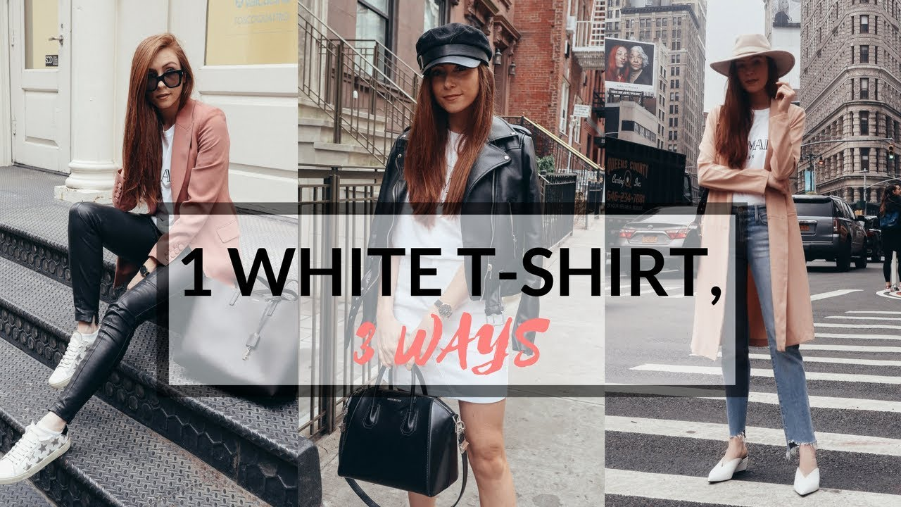 2f29d0fb3fc HOW TO STYLE A WHITE T-SHIRT 3 WAYS
