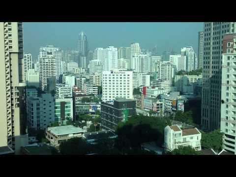 View of Bangkok from hotel windsor suites at sukhumvit soi 20