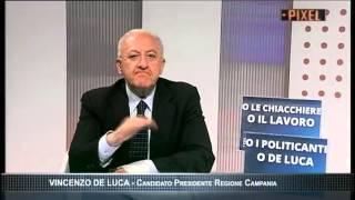 """DE LUCA A TV LUNA: """"BINDI, TI SFIDO. L"""