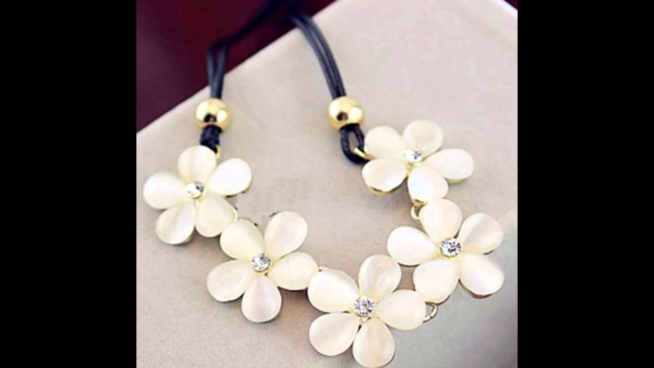 Flower Necklace for Girls - YouTube