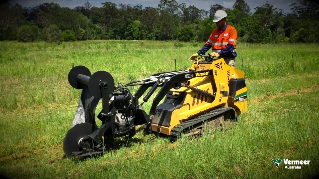 Vermeer S800tx Wiring Diagram Free Download Harness Burchland Silt Fence Installer For Mini Loaders Youtube