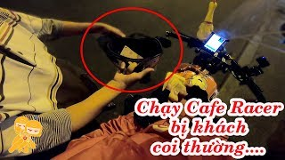 Mượn Win 100 độ Cafe Racer chạy Go Việt và cái kết - Xe Ôm Vlog