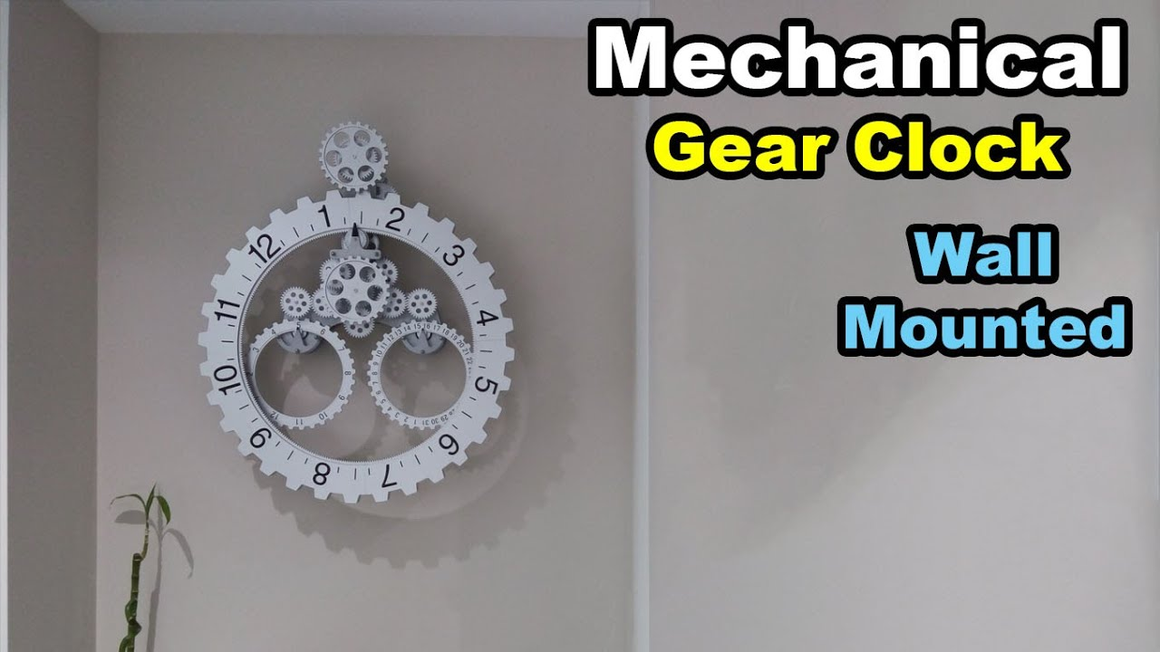 Mechanical Gear Wall Clock Youtube