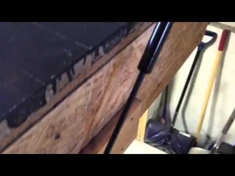 Floor Hatch Gas Struts Piano Hinges Youtube