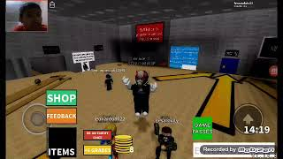 Playing baldi in roblox with my brothers