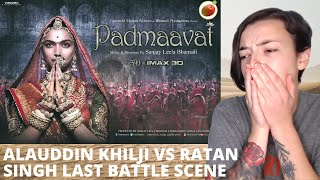 Padmaavat - Alauddin Khilji vs Ratan Singh Last Battle Scene | REACTION! | Indi Rossi