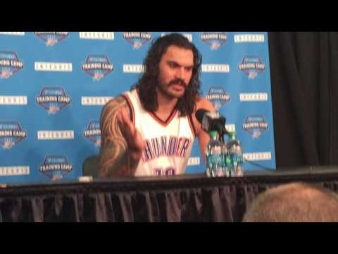 Steven Adams jokes he is Domantas Sabonis