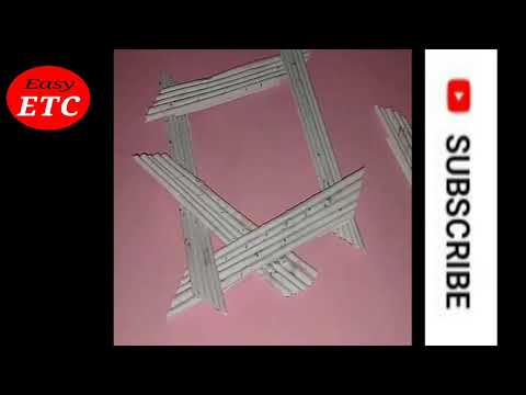 Make Awesome photo Frame out of paper sticks| Diy-paper- Crafts | easy e..