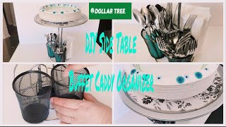 Dollar Tree DIY Side Table and Buffet Caddy Organizer