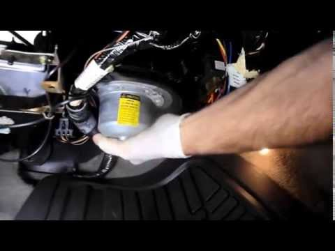 How to replace the Heater/AC fan motor on a Buick - YouTube