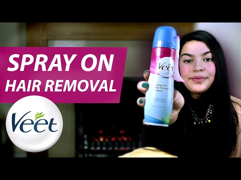 Veet Spray On Hair Removal Cream Legs Body Sensitive Skin