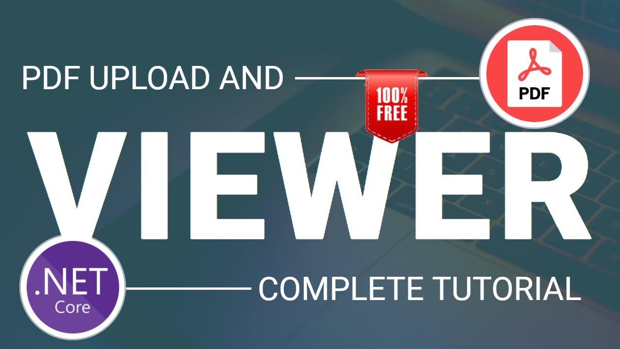 ASP.NET Core PDF Viewer || PDF Upload || 100% Free
