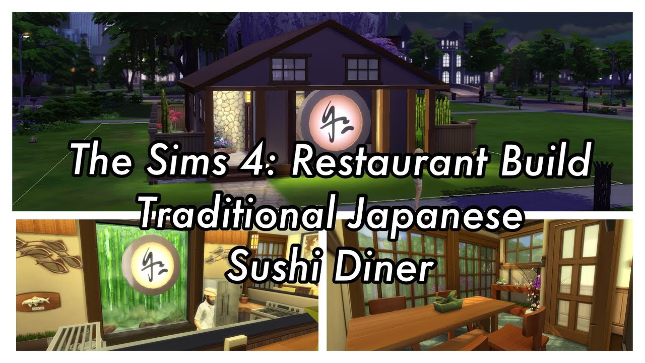The sims dine out restaurant speed build