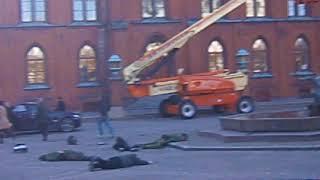 Filminspelning av filmen Zon 261  Rådhustorget, Landskrona 25 Okt  2013