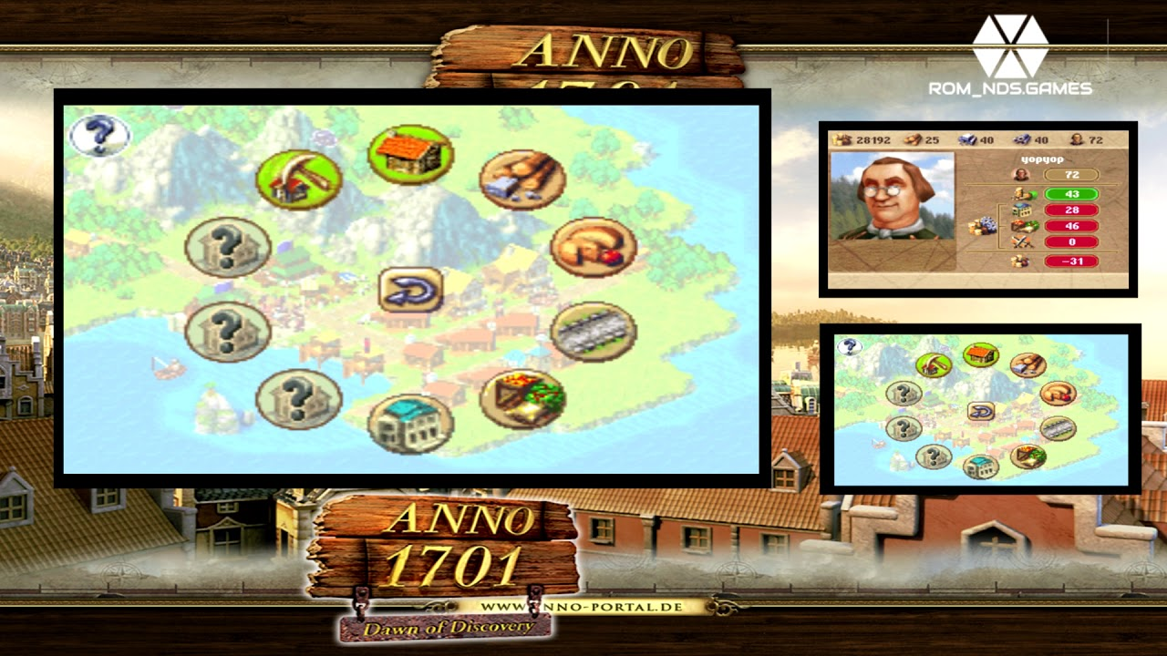 anno 1701 dawn of discovery nds rom