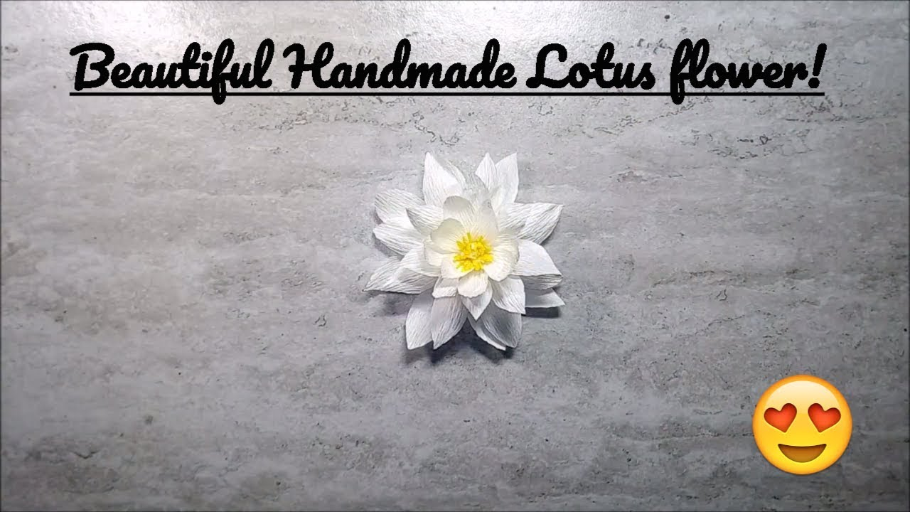 How To Make A Beautiful And Amazing White Lotus Flower With Crepe