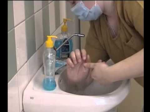 Техника обработки рук хирурга.