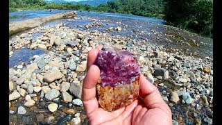 Tìm đá quý dưới sông, hunting gems quartz rubies sapphire