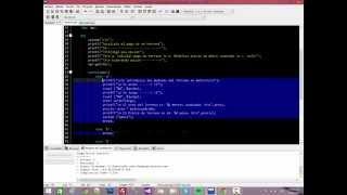 Programa Dev C++ con Switch Case de Ejemplo.