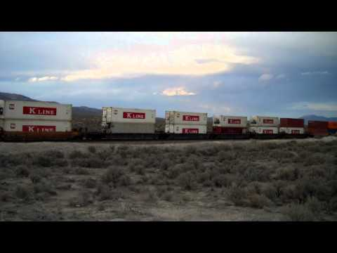 Long UP Stack Train near Montello NV March 2013
