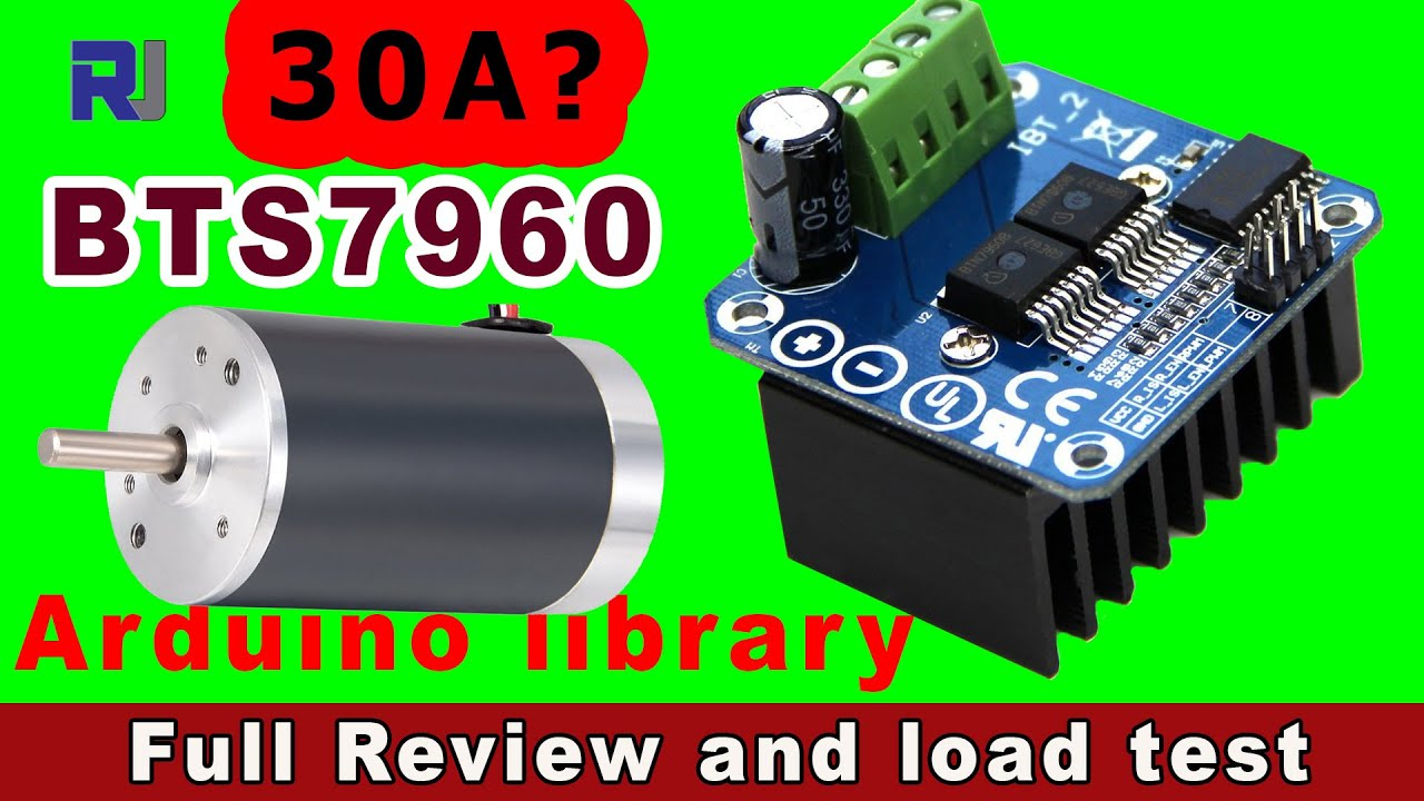 Using BTS7960 PWM H Bridge motor controller module with Arduino library