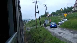 Pociąg retro Nowy sącz - Chabówka - wjazd do Limanowej