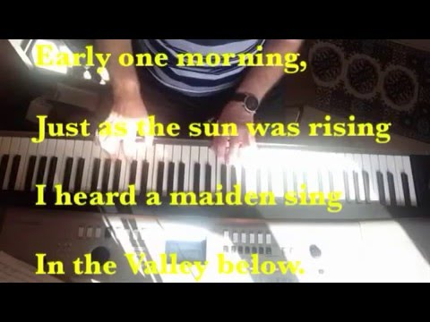 Early One Morning - 18th/19th Century English Folk Song (piano with lyrics)