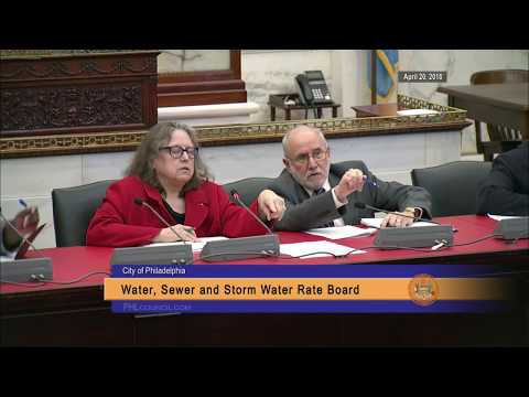 Water Sewer and Storm Water Rate Board - Rate Change Public Input Meeting 4-20-2018