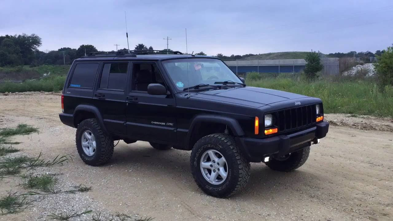 """jeep cherokee 3"""" lift kit walkaround - youtube"""