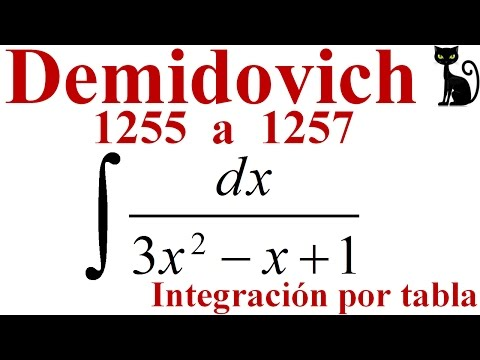 Integrales Elementales Que Contienen Un Trinomio Cuadrado. Demidovich 1255 A 1257.