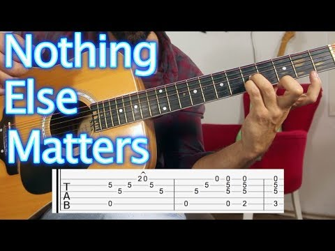 How to play Metallica Nothing Else Matters Guitar Lesson & Tutorial