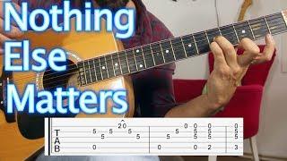 Nothing Else Matters - Metallica - Nasıl Çalınır Gitar dersi Guitar Lesson & Tutorial