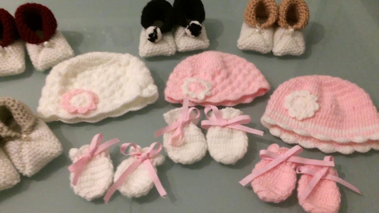 d020883c7dbe bonnet mouffle chausson pour bébé - YouTube